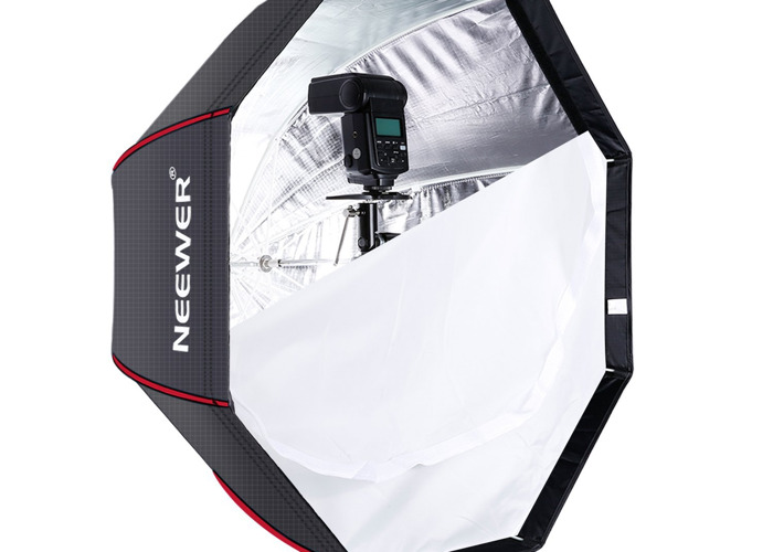 80cm Octagonal Softbox + Stand + Speedlight - 1