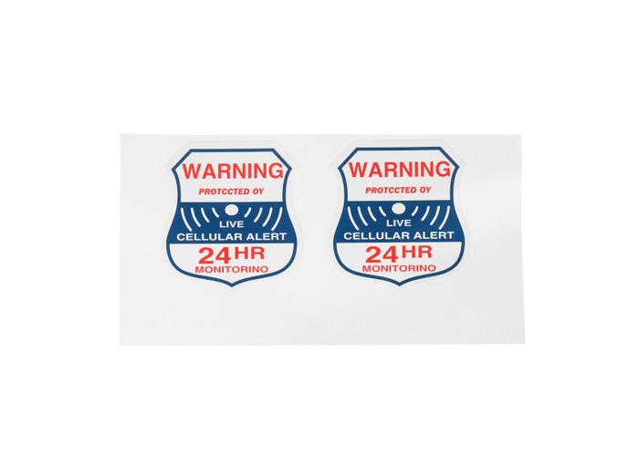 8pcs Alarm Burglar Security Surveillance Stickers Home Window Warning Decal Sign - 2