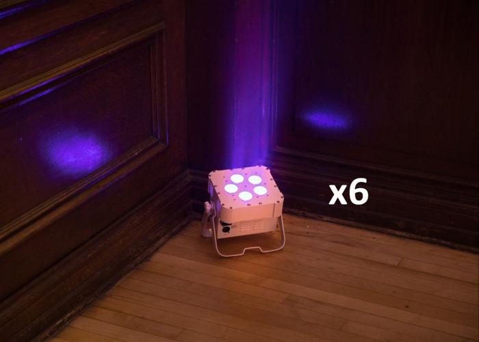 10x American DJ Wifly Battery lights LED lights event lighting - 2
