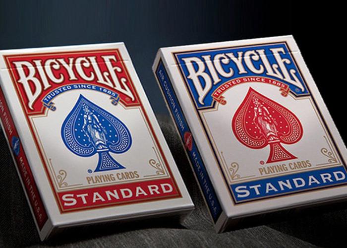 8x Genuine Bicycle Standard Rider Back Playing Cards Poker Casino Decks Poker •[Red]•[Blue]• - 1