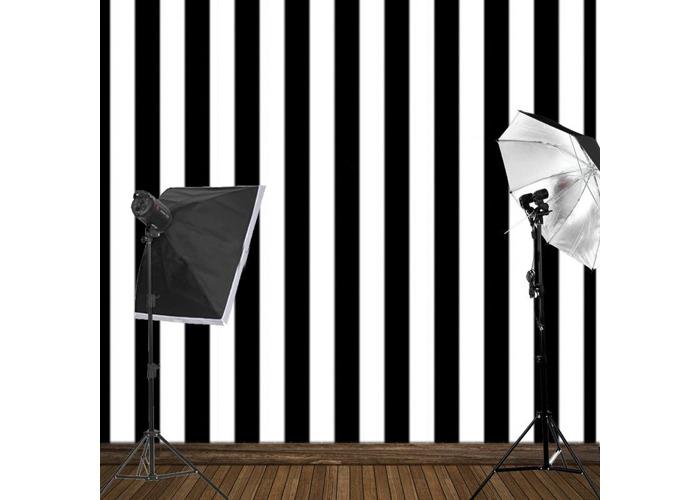 8x8FT Black White Stripes Wall Photography Studio Vinyl Background Backdrop - 2