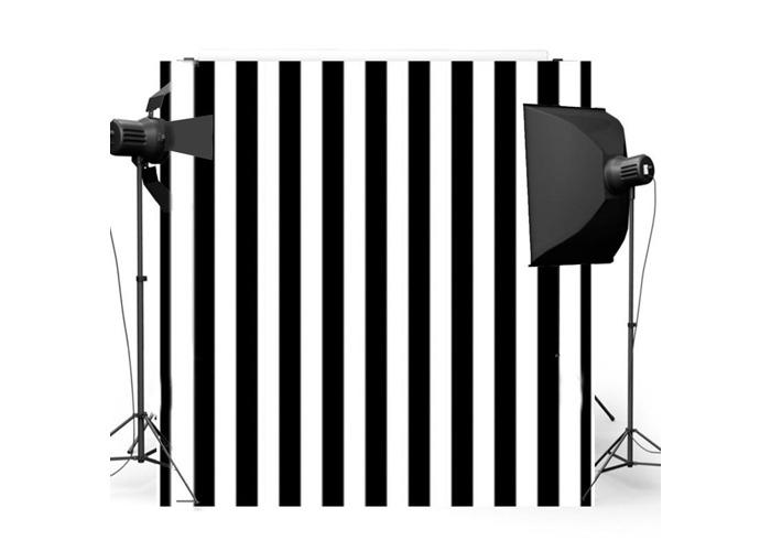8x8FT Black White Stripes Wall Photography Studio Vinyl Background Backdrop - 1