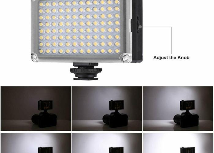 96 LED Video Light Lamp Lighting Hot Shoe for Canon Nikon DS - 2