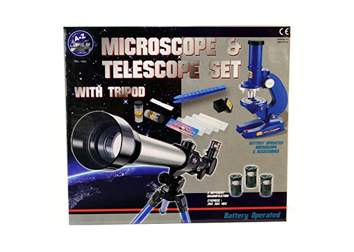 A to Z 01885 Microscope and Telescope Set with Tripod - 1