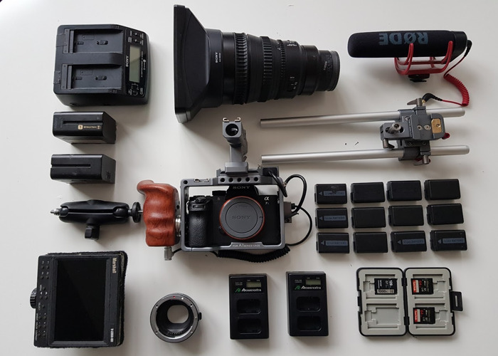 A7s Mkii Kit with SELP28135G Lens and Marshall Monitor - 1