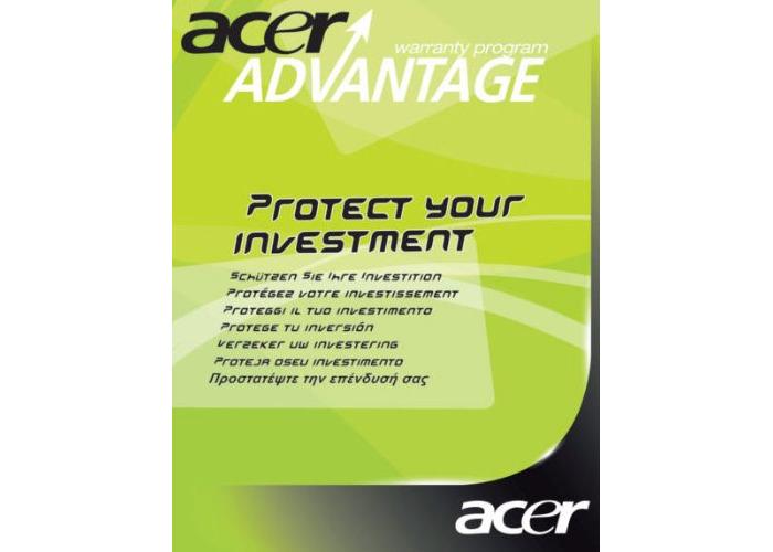 AA 3YearCI Asptire One Warranty (1st year ITW) Book Region A - 2
