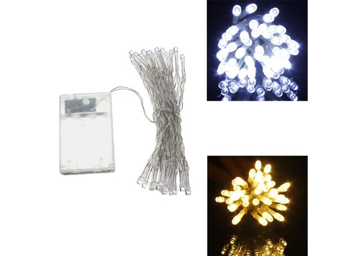 AA Battery Mini 10 LEDs Cool/Warm White Christmas String Fairy Lights - 1