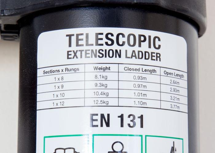Abru Telescopic Ladder / 1m - 3.2m / 10kg / 10 rung - 2