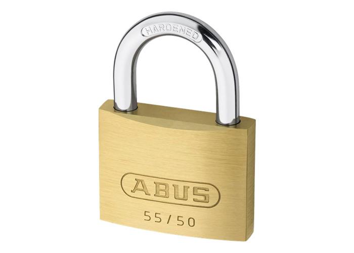 ABUS 55 Series Brass Open Shackle Padlock - 48mm KD 55/50  - 1