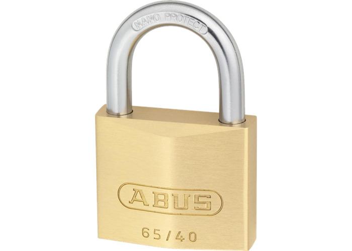 ABUS 65 Series Brass Open Shackle Padlock - 40mm KA (6405) 65/40  - SPECIAL OFFER! - 1