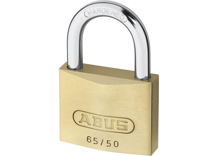 ABUS 65 Series Brass Open Shackle Padlock - 50mm KA (6504) 65/50  - SPECIAL OFFER! - 1