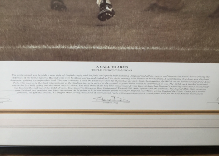 'A Call to Arms' Signed Rugby Painting by Stephen Doig - 2