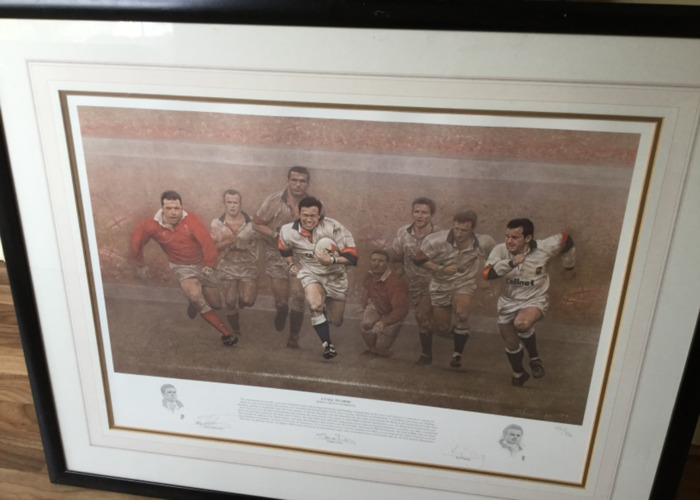 'A Call to Arms' Signed Rugby Painting by Stephen Doig - 1