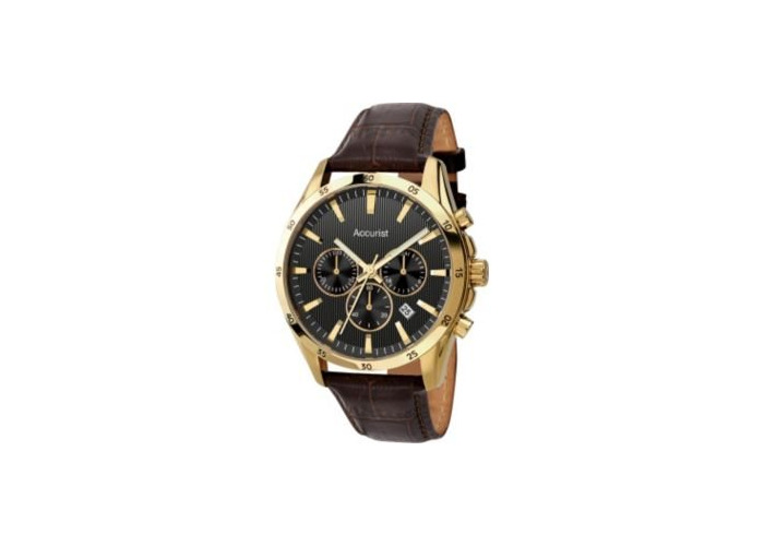 Accurist Men's Chronograph Brown Leather Watch (224795366) - 2
