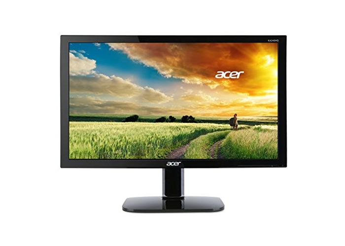 Acer KA240HQ 23.6 Inch WideScreen Monitor(Full HD, LED, Backlit, 1 ms, 100M:1, ACM, 300nits, DVI, HDMI, EURO/UK EMEA, MPRII, Acer EcoDisplay) - Black - 1