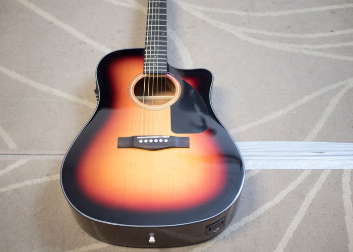 Fender Acoustic Guitar CD60 with Fishman CD Electronics - 1