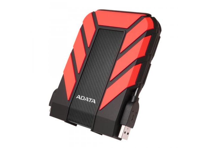 "ADATA 4TB HD710 Pro Rugged External Hard Drive, 2.5"", USB 3.1, IP68 Water/Dust Proof, Shock Proof, Red - 1"