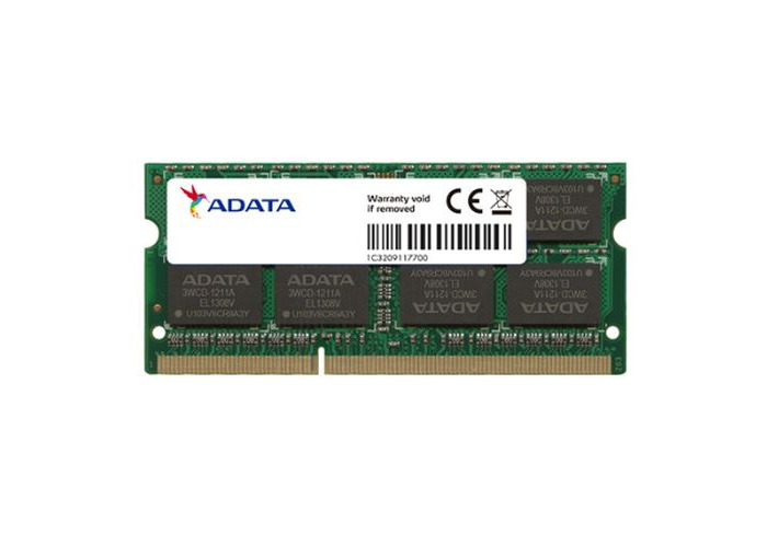 ADATA Premier 4GB, DDR3, 1600MHz (PC3-12800), CL11, SODIMM Memory, Single Rank - 1