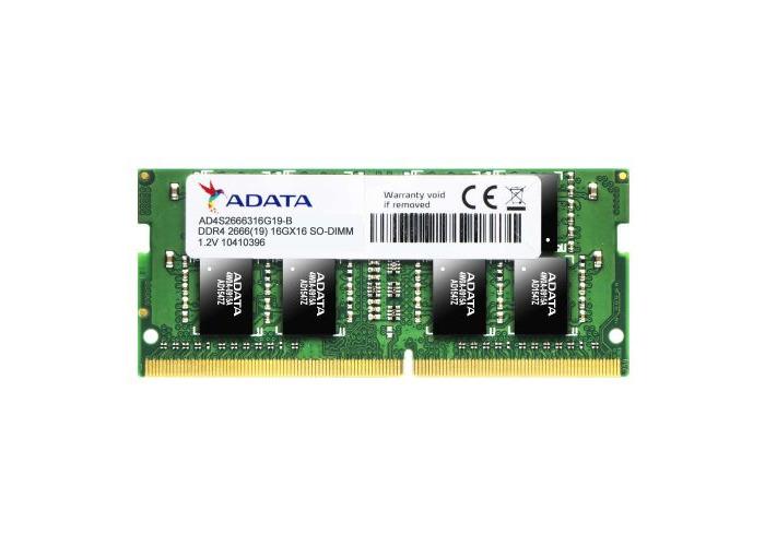 ADATA Premier 4GB, DDR4, 2666MHz (PC4-21300), CL19, SODIMM Memory, 512x16 - 1