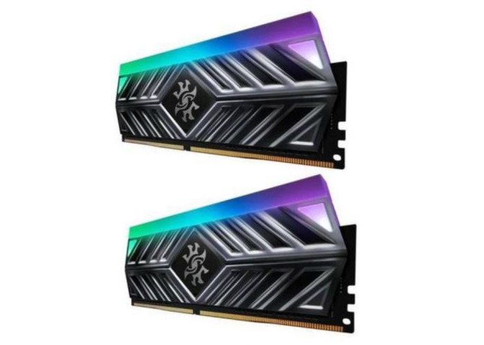 ADATA XPG Spectrix D41 RGB LED 16GB Kit (2 x 8GB), DDR4, 2666MHz (PC4-28800), CL16, XMP 2.0, DIMM Memory, Tungsten Grey - 1