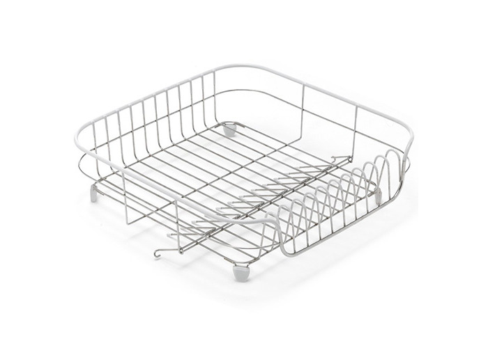 ADDIS 1-Piece Stainless Steel/ PVA ADDIS White Soft Touch Stainless Steel Draining Rack, White - 1
