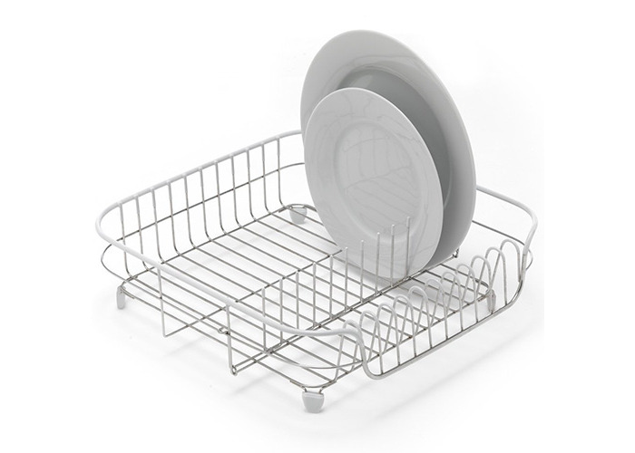 ADDIS 1-Piece Stainless Steel/ PVA ADDIS White Soft Touch Stainless Steel Draining Rack, White - 2