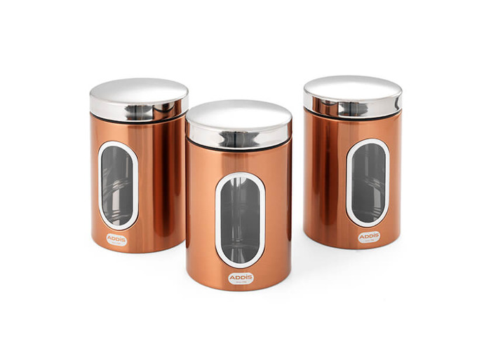 Addis Copper 3 Piece Canister Set - 1