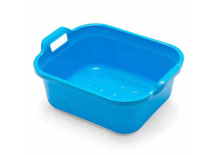 Addis Large Rectangular 9.5 Litre Washing Up Bowl with Handles, Blue, 39 x 32 x 14 cm - 1