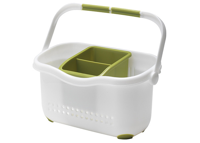 Addis Sink Caddy, White/ Grass Green - 1