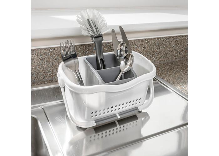 Addis White & Grey Sink Caddy - 2