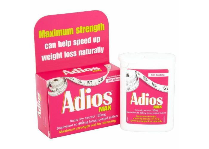 Adios herbal tablets / Adios Max Herbal Tablets (100 X 2 ) - 1