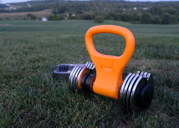 Adjustable 25lbs Dumbbell with Kettlebell Handle Attachment - 1