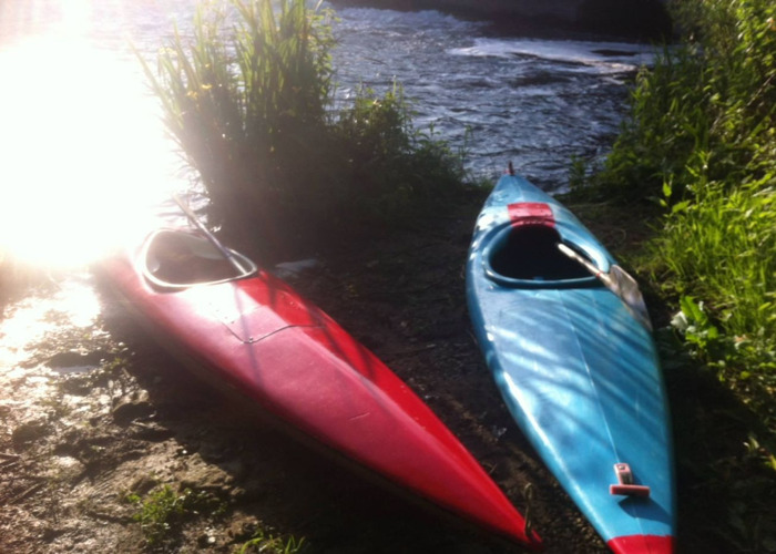 Adult single person kayak (blue) - 2