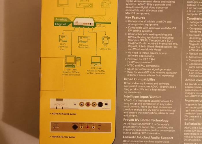 ADVC Advanced Digital Video Converter