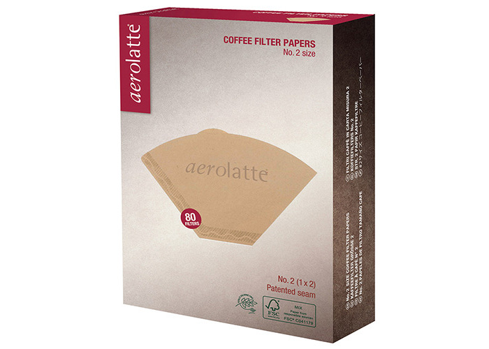 aerolatte Coffee Filter Papers, No. 2 (1 x 2) Size, Pack of 80 - 1
