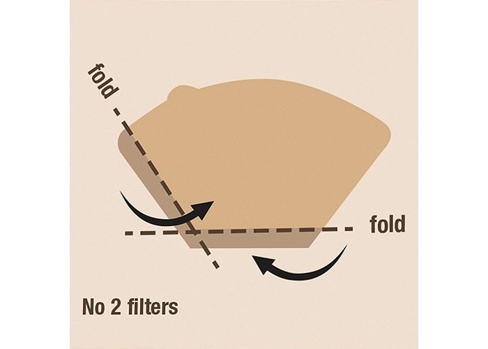 aerolatte Coffee Filter Papers, No. 2 (1 x 2) Size, Pack of 80 - 2