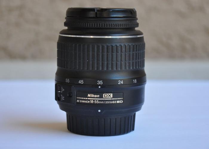 Nikon 18-55mm f/3.5-5.6G AF-S DX Zoom-Nikkor ED II DSLR Camera Lens - 1