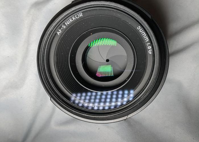 AF-S NIKKOR 50mm 1:1.8G LENS + HOYA REVO UV FILTER - 2