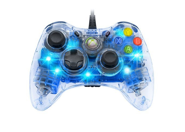 Afterglow Wired Controller for Xbox 360 - Blue Color: Blue - 1