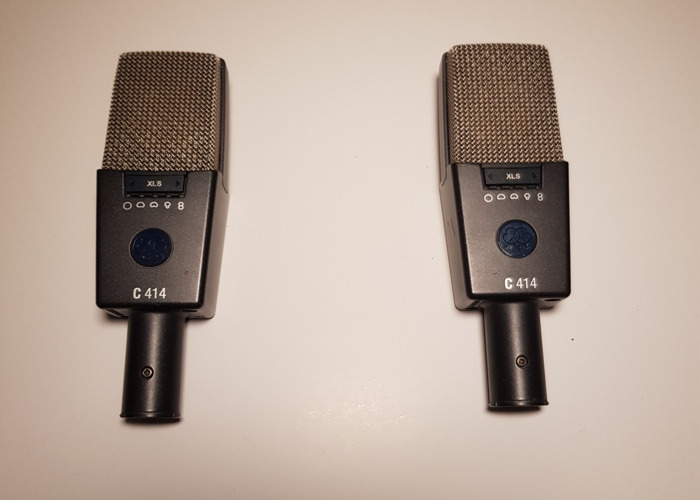 AKG 414 Condenser Microphones - Stereo Pair - 2