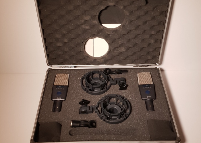 AKG 414 Condenser Microphones - Stereo Pair - 1