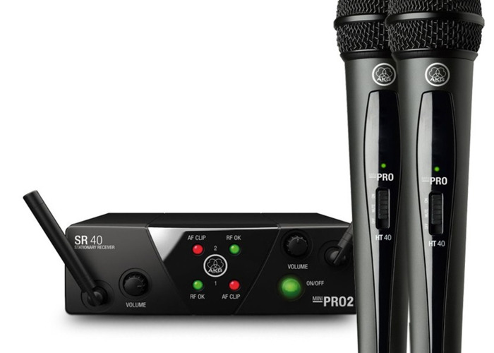 AKG Vocal Wireless system wms40 dual Microphones - 1