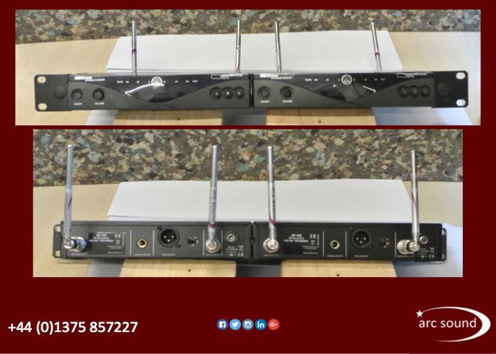 AKG WMS450 dual channel wireless radio microphone system  - 1