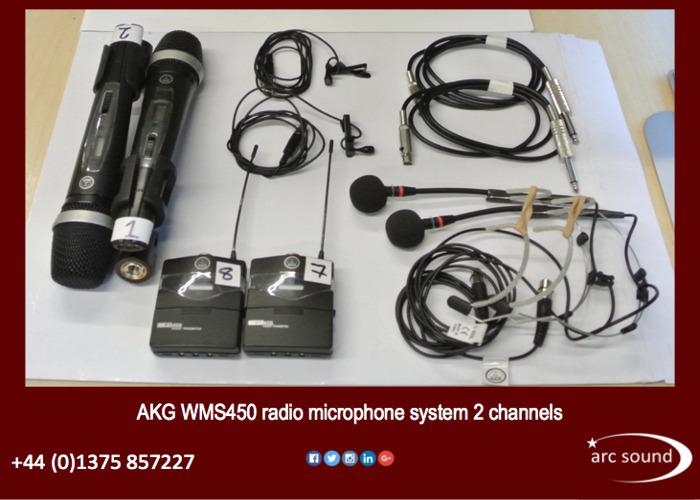 AKG WMS450 dual channel wireless radio microphone system  - 2