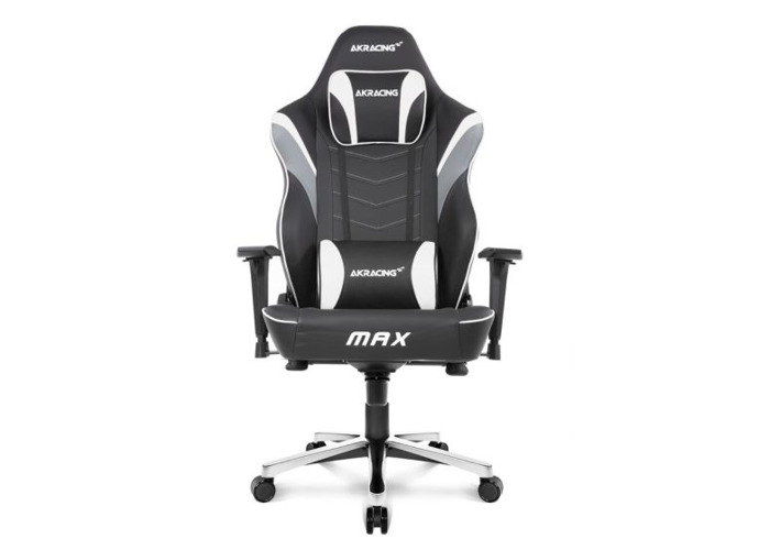 AKRacing Masters Series Max Gaming Chair, Black & White, 5/10 Year Warranty - 1