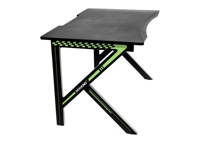 AKRacing Summit Gaming Desk, Black & Green, Steel Frame, Cable Management, Gaming Mousepad Included - 1