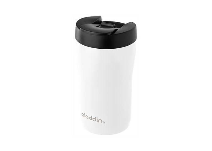 Aladdin Latte/Leak LockTM Stainless Steel Travel Mug, 0.25 l, 100% Leak Proof Fully Automatic Coffee Machines, White, 6.5 x 6.5 x 14 cm - 1