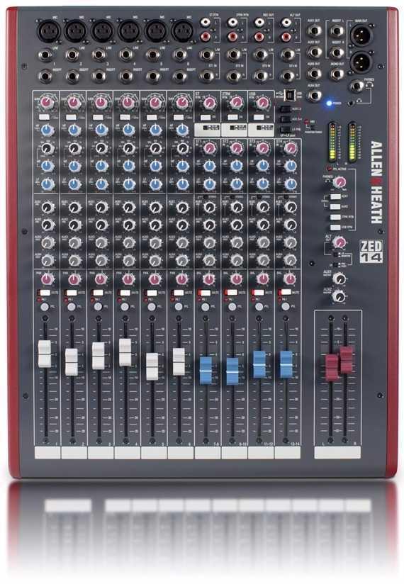 Allen and Heath ZED14 Live Mixer - 1