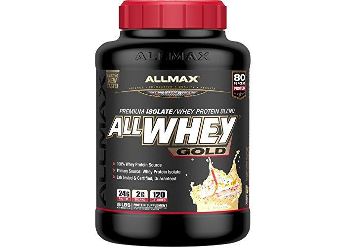 Allmax Nutrition AllWhey Gold Birthday Cake 5 lbs - 1