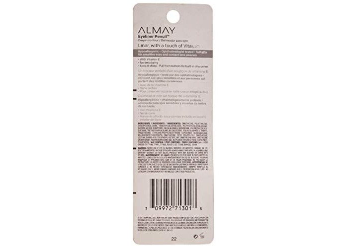 Almay Eyeliner Pencil, Black 205 0.01 oz by AB - 2